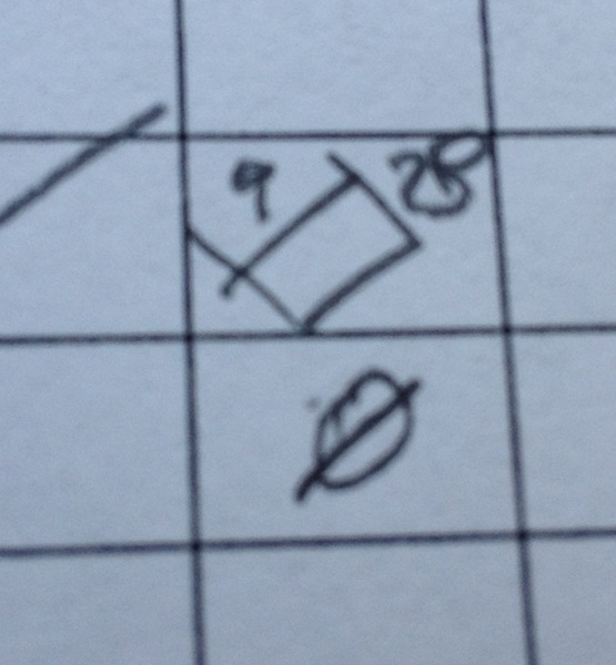 "I've invented a new spring training baseball scoring symbol for ""an out I didn't see"""