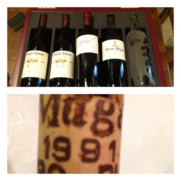 Juan Muga packd us an airplane checkable wine case w greatest hits, plus '87 (FG's b'date) plus opened '91 4 Lanie :)