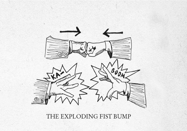 Fist bump blow it up