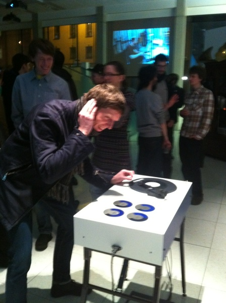Hugh spins some control vinyl at #unravel http://unravelproject.com