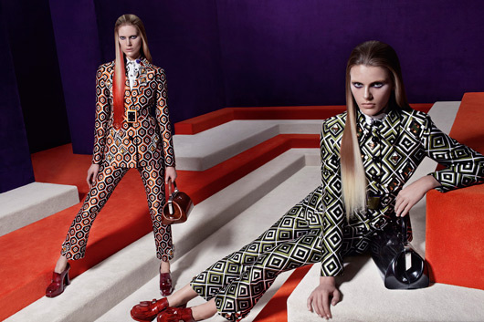 Prada&#039;s space-age maze fw12 ad campaign by Steven Meisel