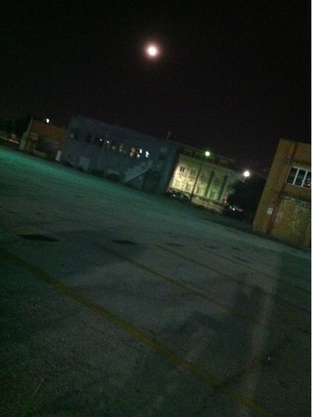 A #zaneshadow presents The #SuperMoon in Downtown Dallas