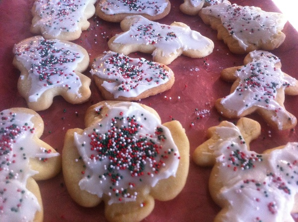 Pretty proud of the Christmas cookies we made with Beatrix this morning.