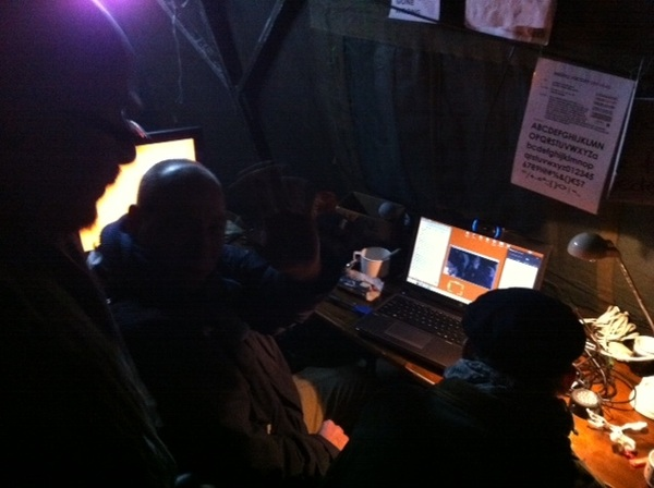 This is how the #occupydenhaag #livestream happens