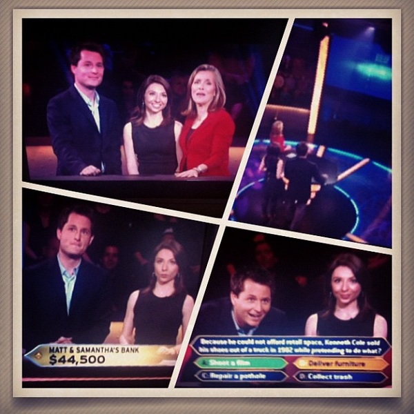 Did anyone catch @NBCDFW's @matt_barrie & @sdaviesWEATHER on #millionaire?