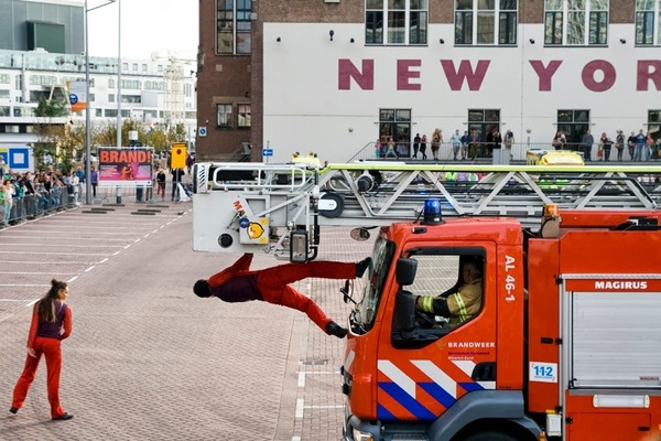 Dansvoorstelling Brand! (2) #Rotterdam #wereldhavendagen