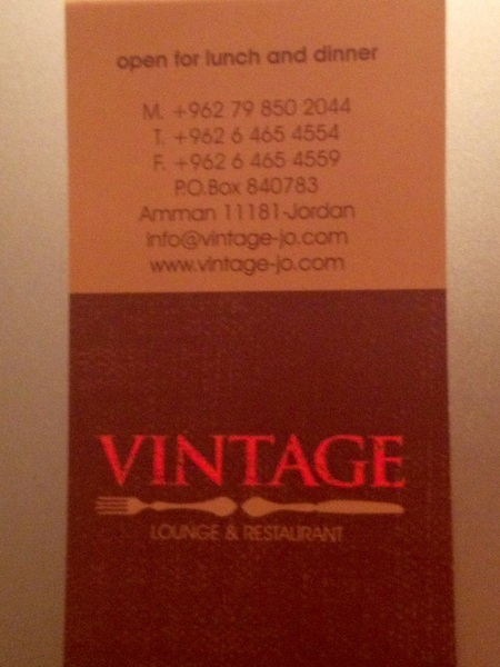 #Vintage #Restaurant & Lounge Soft opening starting Wed / Thurs. #JO  #Reformjo #food