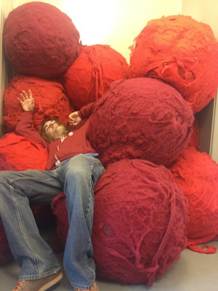 He is tired ... @KliphScurlock sleeps on giant testicles...