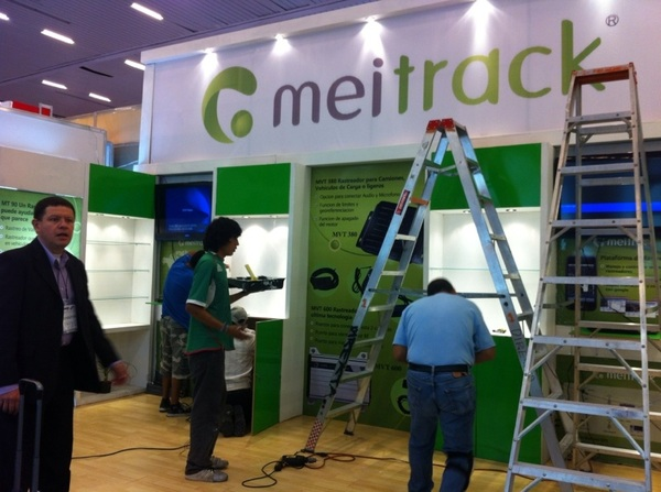 Here is a pic of our stand at Expo Transporte Guadalajara being built. 