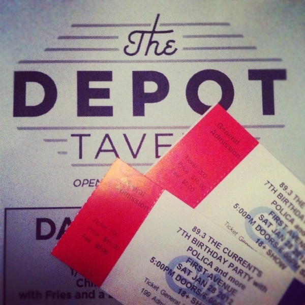 Tickets for both nights of @TheCurrent birthday still available at The Depot. Come down! 