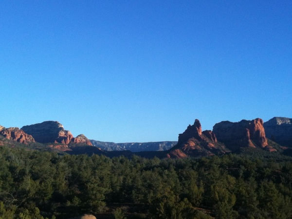 Okay @KeithOlbermann, I see your NYC sunset & raise you a Sedona sunrise.