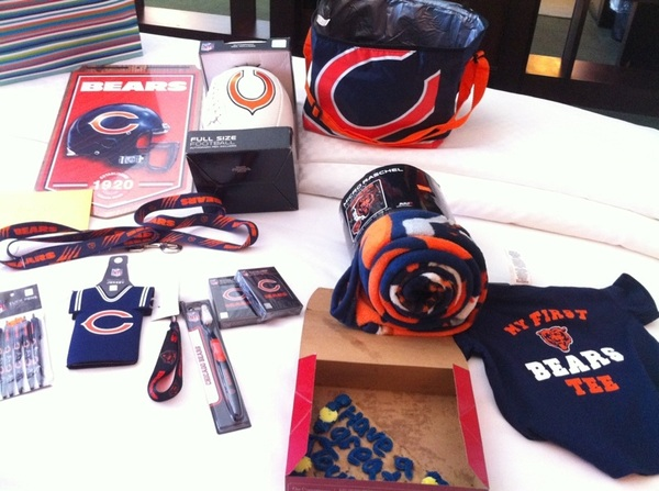 Thanks @ColbieCaillat for having me open your show last night, but mostly for this... #bearsswag