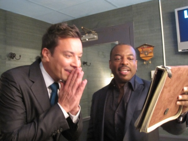 I LOVE this pic! Showing  @JimmyFallon the #ReadingRainbow app before the show last week. #bydhttmwfi