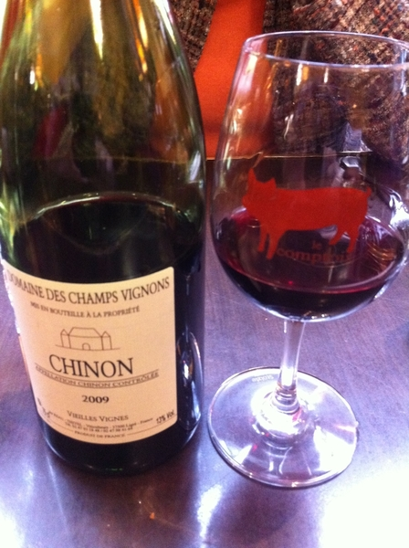 Le Comptoir: beautiful bottle of old vine cab franc from Chinon