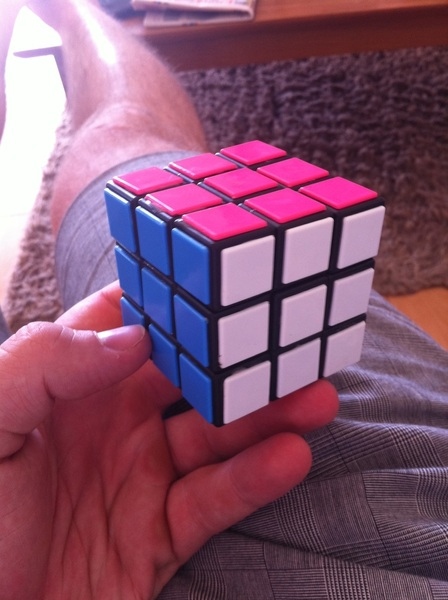 Bit of &#039;Rubik&#039;s revision&#039; this afternoon. You still got it  @rhys_bepe!? #likeridingabike!