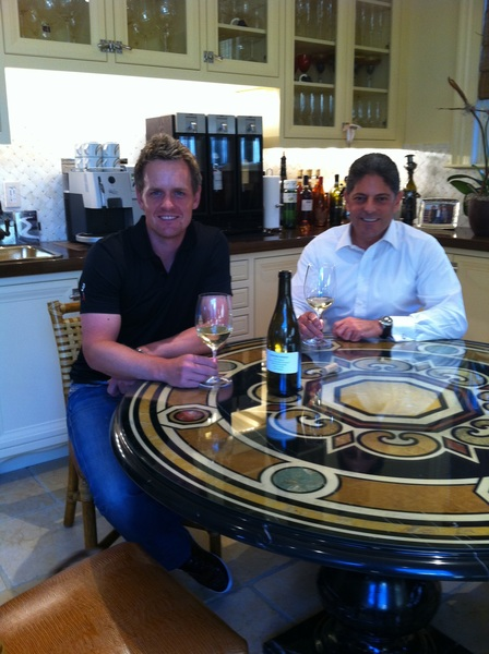 @LukeDonald and me tasting a potential new white to add to Luke Donald Collection