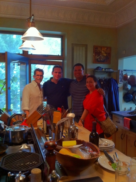 Gr8 time making brunch for 1 of Mexico's best chefs: Roberto Solis of Nectar (Merida) and other Yucateco friends.