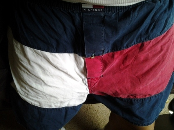 Found these old joints in the drawer, I'm rocking em' #Hilfiger #4thOfJuly