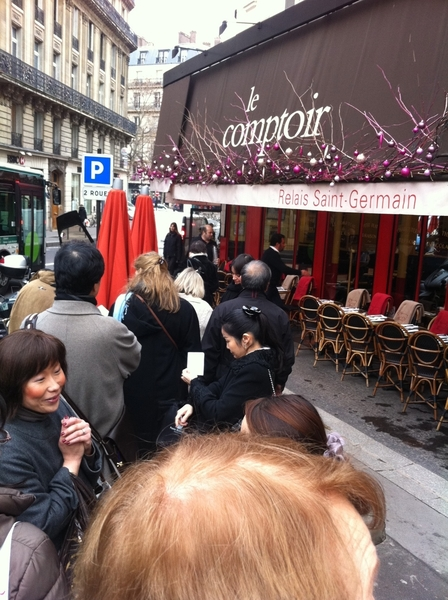 Standing in line waiting for Comptoir du Relais to open for lunch. Kinda feel like I&#039;m at Frontera in Paris. 