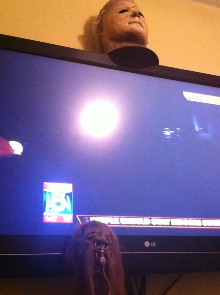 @lambvox don't worry the bronx is here chillaxing with myers and my shrunken head On a channel 5 marathon.