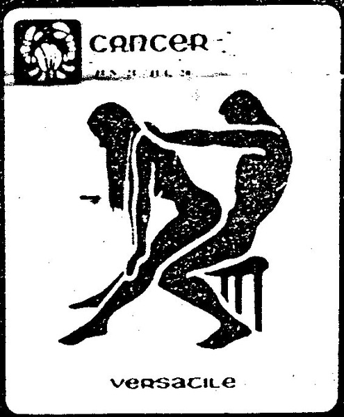 Next.... Cancer: Jun 21 - Jul 22  ''Versatile'' (Posisi Sex Sesuai Zodiak)