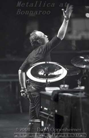 Lars Ulrich with Metallica at Bonnaroo