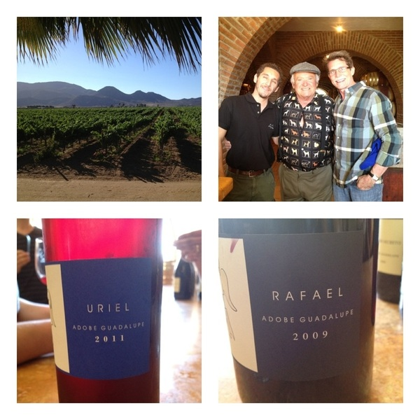 Adobe Guadalupe w Don Miller & wine maker, drinking my fave rosé&beautiful archangel wines...esp Raphael: Cab-Nebbiolo