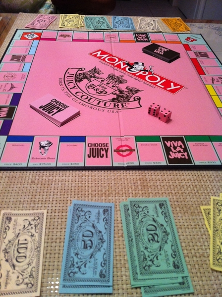 Playing monopoly with my mom :)))) lol