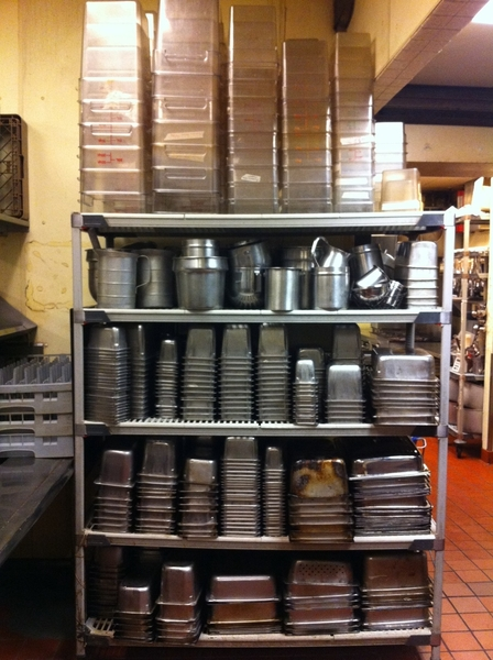 Every stainless pan we have is clean and stuffed in the clean pot rack. Crazy full!!