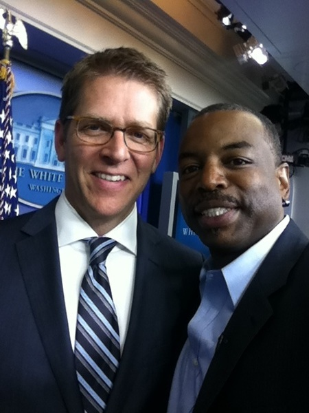With Jay Carney, White House  Press Sec&#039;y...