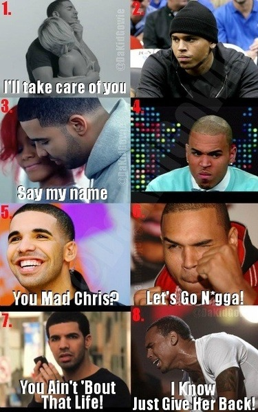 """@Satisfies69: I'm late so what happened with Chris Brown and Drake?"" this"