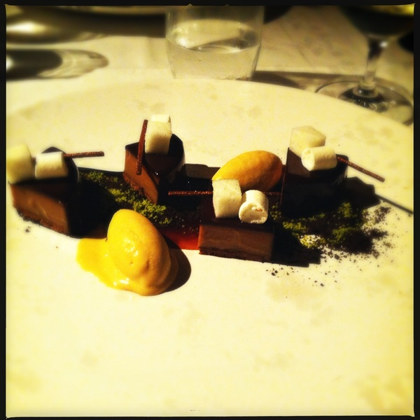 Gianduja with salted caramel ice cream