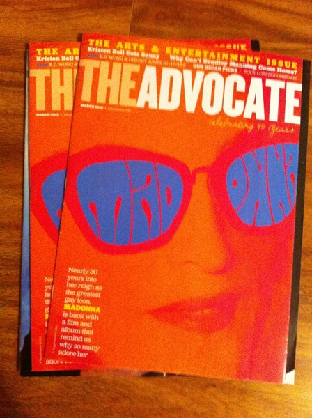 Who's going to be the lucky winner of a copy of  @TheAdvocateMag ?