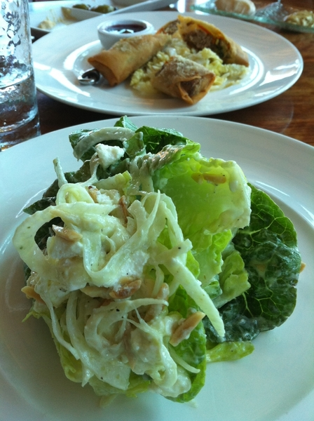 Sweet Gem Lettuce salad w fennel and fear at Post Ranch Inn. Really memorable, but not as much as mt/ocean view!
