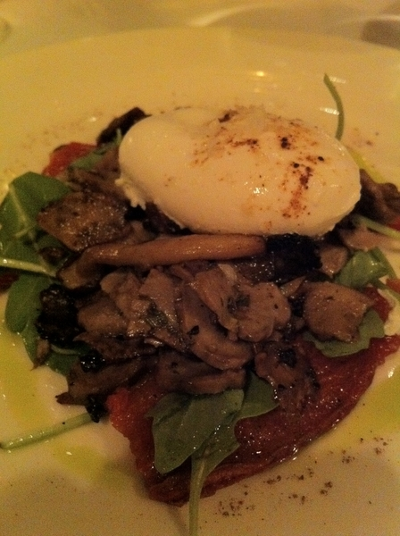 Dinner at Batali's Babbo: great pastas (of crs). Lamb's tongue vinaigrette w poached egg=very memorable.