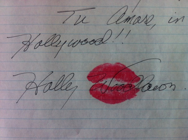 Another gem from my old papers box: Note from Holly Woodlawn to Giorgio Armani.