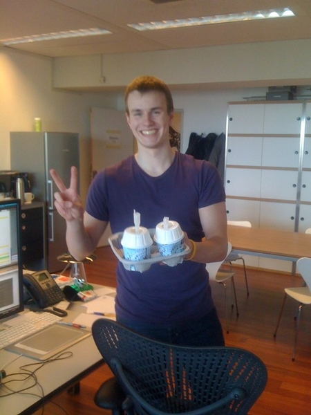Stroopwafel addict @antekpiechnik got us stroopwafel McFlurries. :P