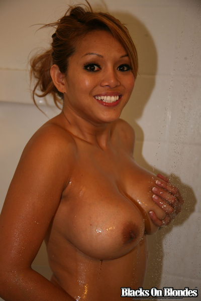 Baylee Lee in the shower after getting fucked by Mandingo -#2 of 6