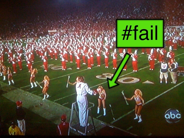 Alabama cheerleader #fail