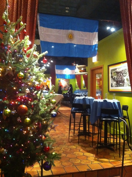 Setting up for the Frontera/Topolo/Xoco Staff Christmas party! Argentina's the theme.