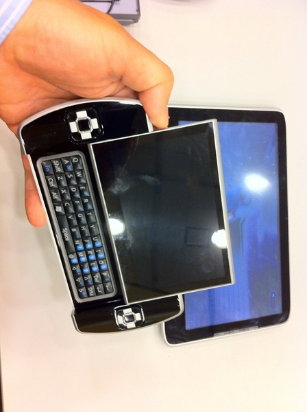 Tablet Development Platform and Ocosmos both w/ Intel Atom Oak Trail SoC chip inside. Backstage #IDF.