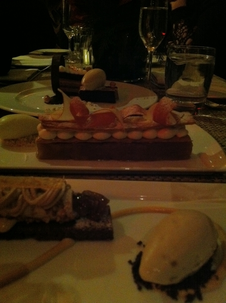 After-show dessert at DB Bistro: new pastry chef's got talent! Loved chestnut brownie&warm madeleines