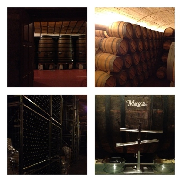 Visited Muga winery: all fermentation done in wood casks. It's Rioja: aging barrels & bottle racks as far as u can see