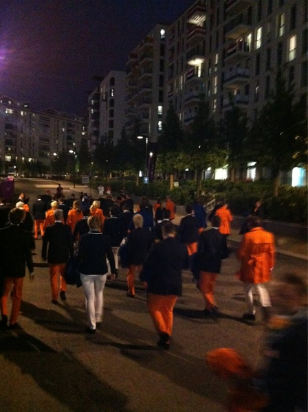 Olympic Team Netherlands on the way to opening ceremony #GoTeamNL #sportrightnow