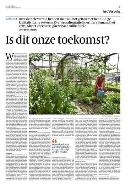 Interessant artikel in Volkskrant Het Vervolg over oa #Occupy #occupyNL #FB #in