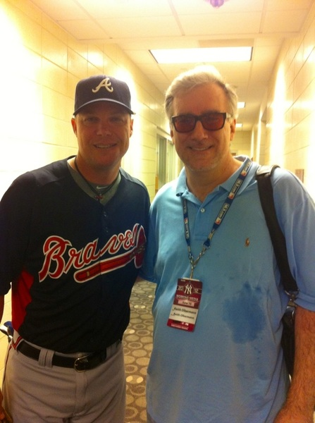 One last photo. I've only known this kid for 19 years. The great L. Chipper Jones (yes, humid on subway, sorry)