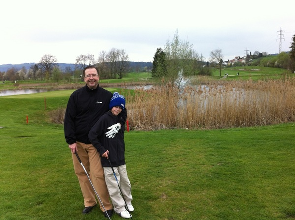 Nice Golf round with my Son. It was rather freezing cold but