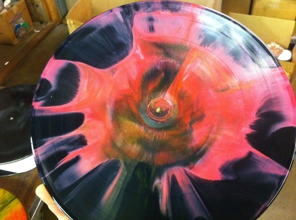 Yessss!!! Exploding universe color colossal vinyl!!! Being pressed in Dallas right now!!