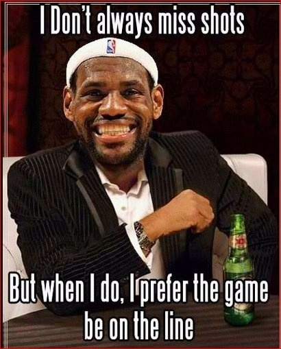 Bron.. Youre my favorite current player BUT I'm sorry, but this is too funny to not post.  #lebron #nbafinals