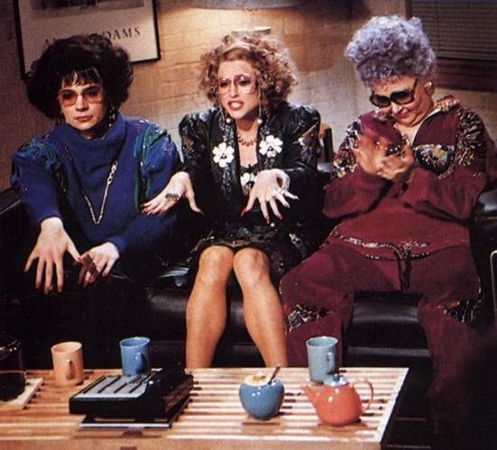 Coffee Talk!!! With @TheRealRoseanne ,Mike Myers and Madonna .... Who's idea was this? Love it!!!